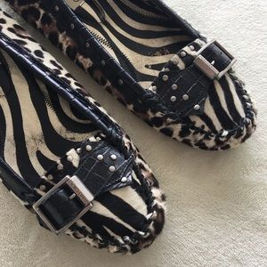 Jimmy Choo Shoes - Jimmy Choo Driving Moccasin Calf Hair Animal Print